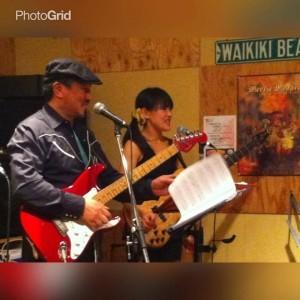 大阪・神戸で活動しているGuitar Duo、Dogsteps のYoppy&Laura Akiさんの演奏会
