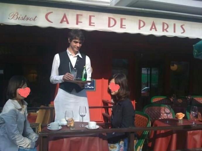 パリを再現したオシャレなテラスで美味しいランチとスイーツを