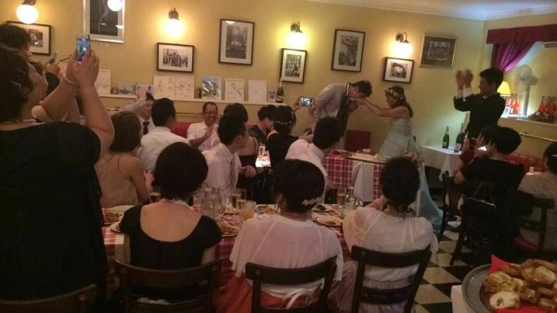 パリスタイルの結婚式二次会パーティー